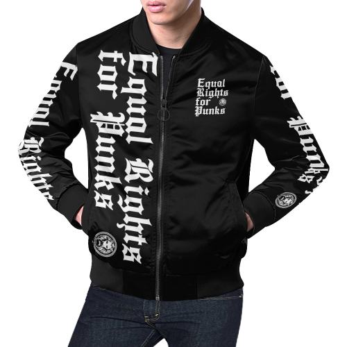 Equal Rights for Punks Mens Bomber-Jackets-XS-NO FIXED ABODE Luxury Streetwear UK