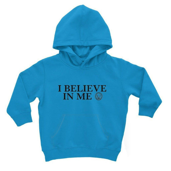 I Believe in Me Kids' Hoodie-Sweatshirts-3-4 Years-Sapphire Blue-NO FIXED ABODE Luxury Streetwear UK