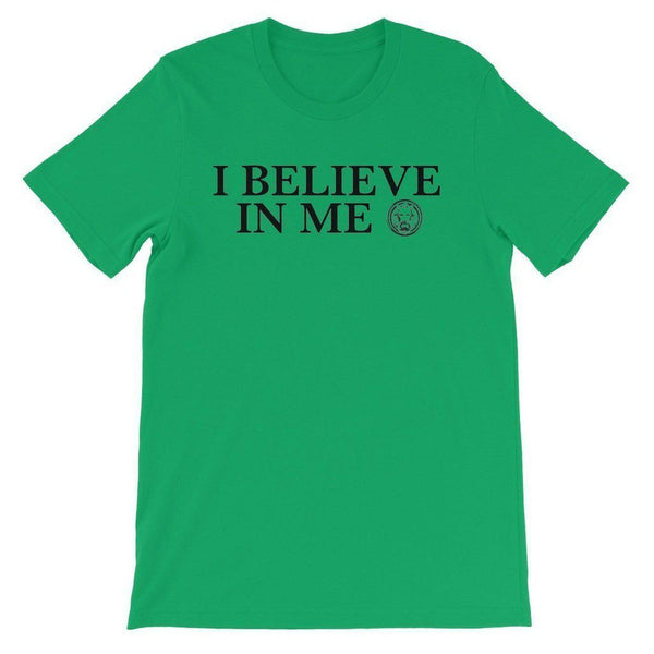 I Believe in Me Kids' T-Shirt-T-Shirts-3-4 Years-Kelly Green-NO FIXED ABODE Luxury Streetwear UK