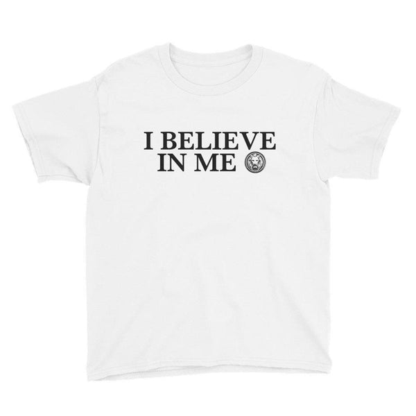 I Believe in Me Youth Short Sleeve T-Shirt-T-Shirts-White-XS-NO FIXED ABODE Luxury Streetwear UK