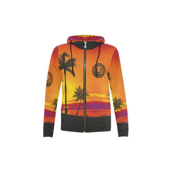NO FIXED ABODE,Kids Tropical Storm Palm Zip Hoodie,Sweatshirts,XXXS