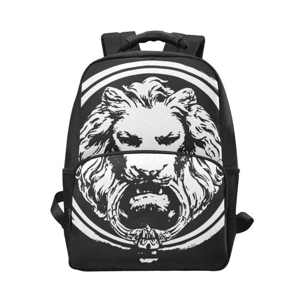 Black Designer Luxury Streetwear Laptop Lion Backpack Bag