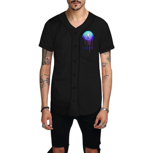 Lion Drip NFA Baseball Shirt-Shirts-XS-NO FIXED ABODE Luxury Streetwear UK
