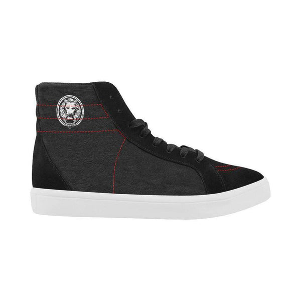 Mens Black Lion Skate Shoes with High Top,Footwear,NO FIXED ABODE,[uk],[luxury_streetwear],[free_shipping]