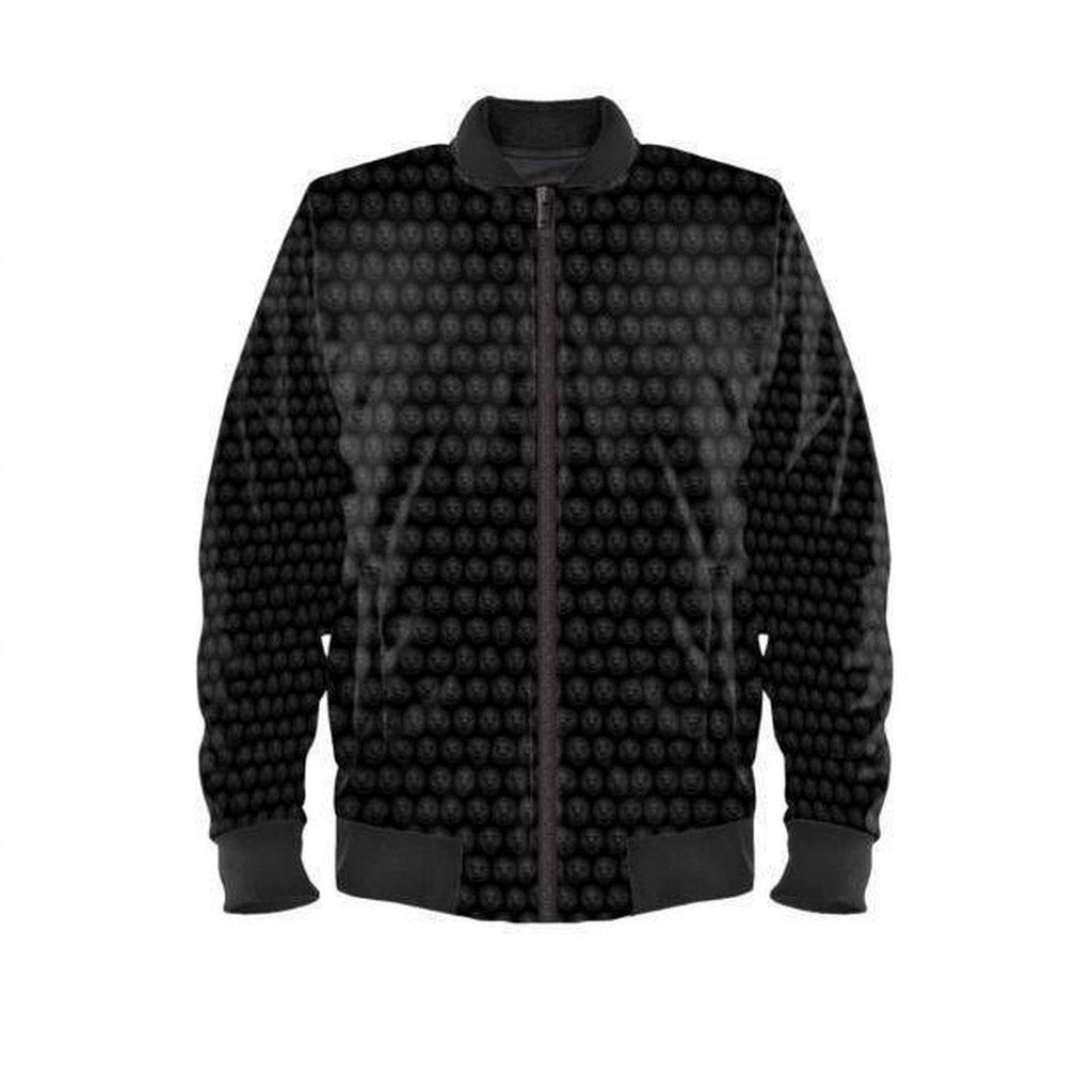 NO FIXED ABODE,Mens Black Small Lion Waterproof Bomber Jacket Limited Edition,Jackets and Coats,XXS / Satin / Black