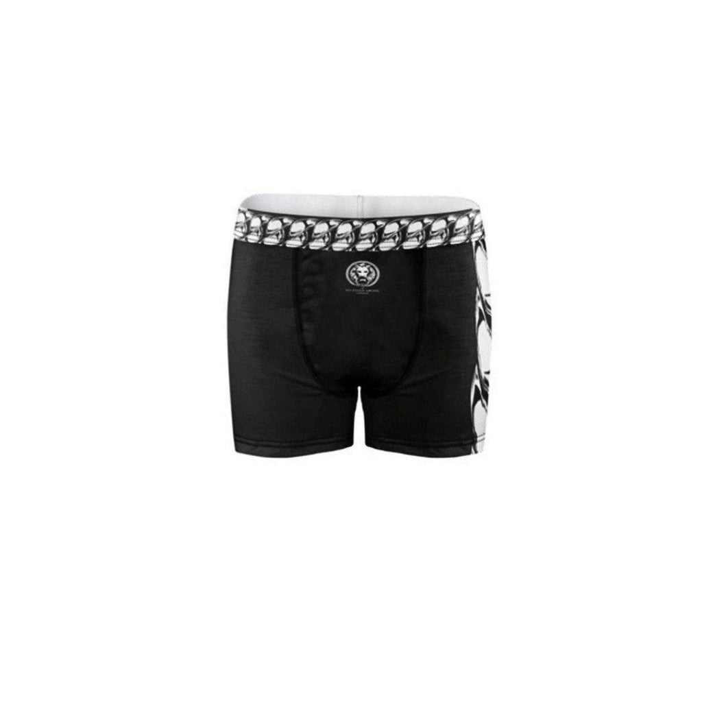 NO FIXED ABODE,Mens Chain Black Boxer Briefs,Underwear,SX / Black / Jersey