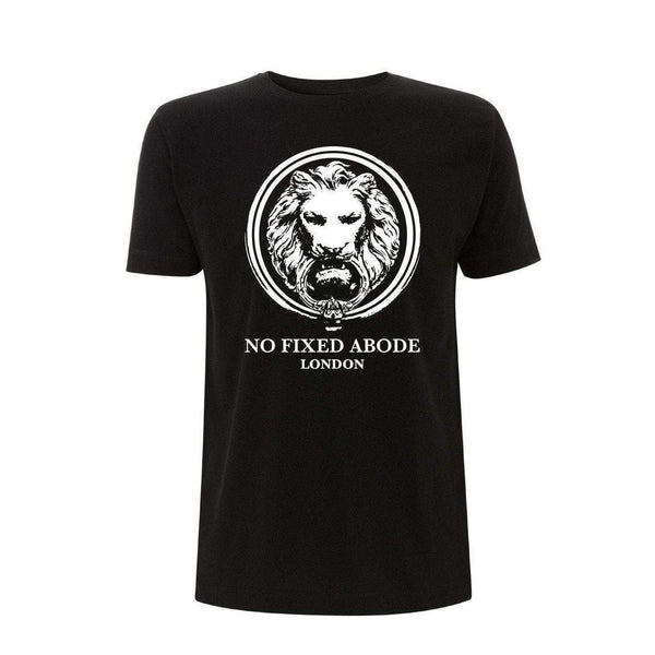 NO FIXED ABODE,Mens Classic Fit Lion T-shirt,T-Shirts,S / Black / 100% Cotton