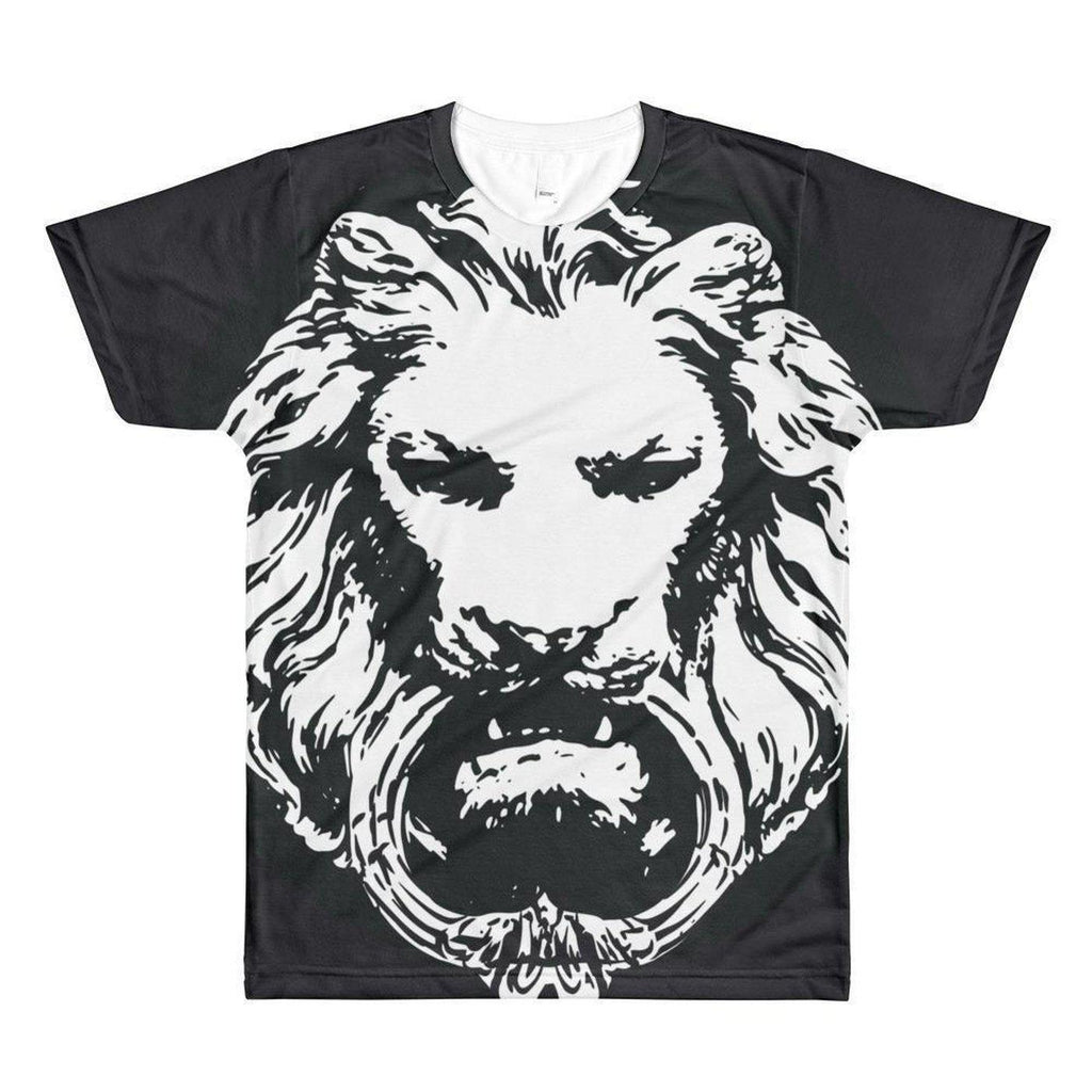 NO FIXED ABODE,Mens Lion Large all over print crewneck t-shirt,T-Shirts,XS