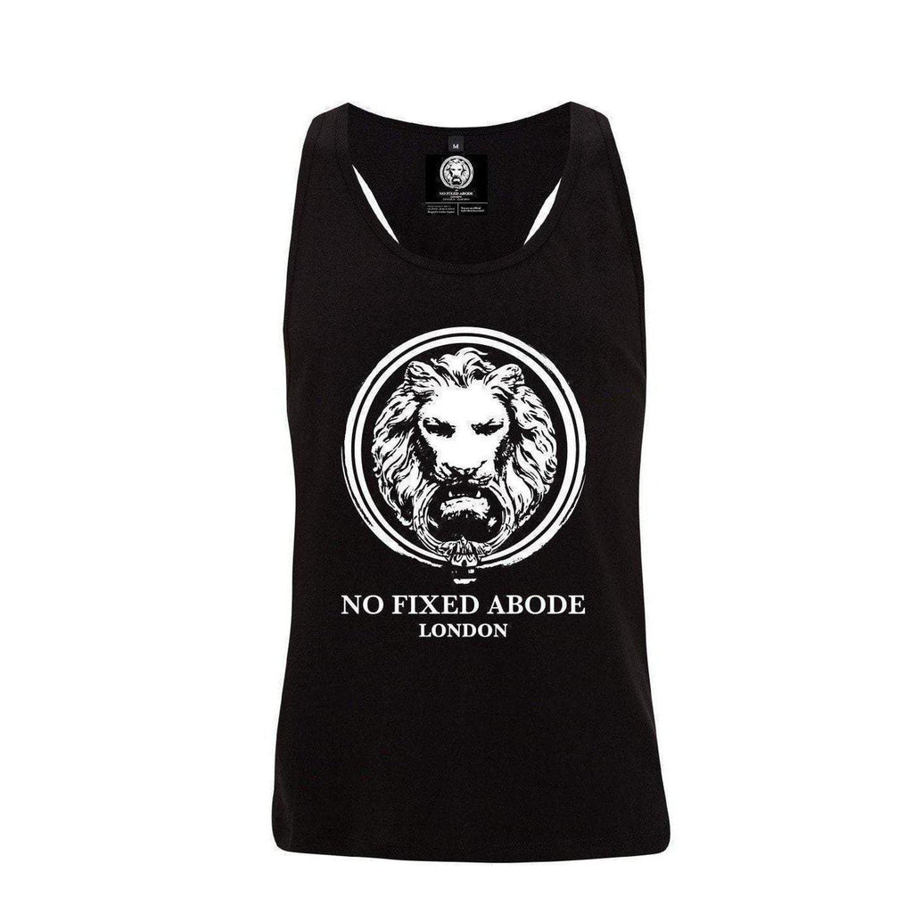 NO FIXED ABODE,Mens Raceback Lion Vest/Tank/Singlet,T-Shirts,S