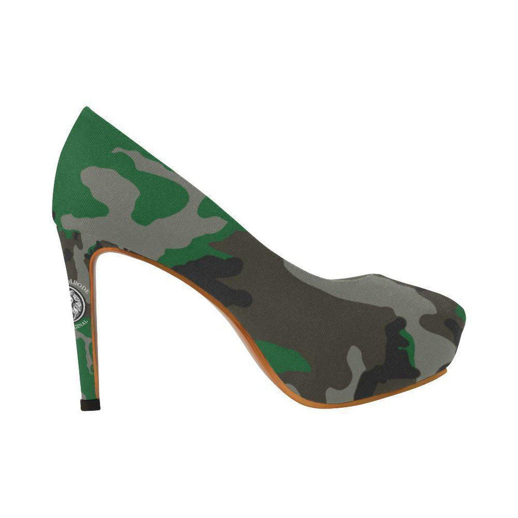 NFA The Original Green Camo High Heels,Footwear,NO FIXED ABODE,[uk],[luxury_streetwear],[free_shipping]