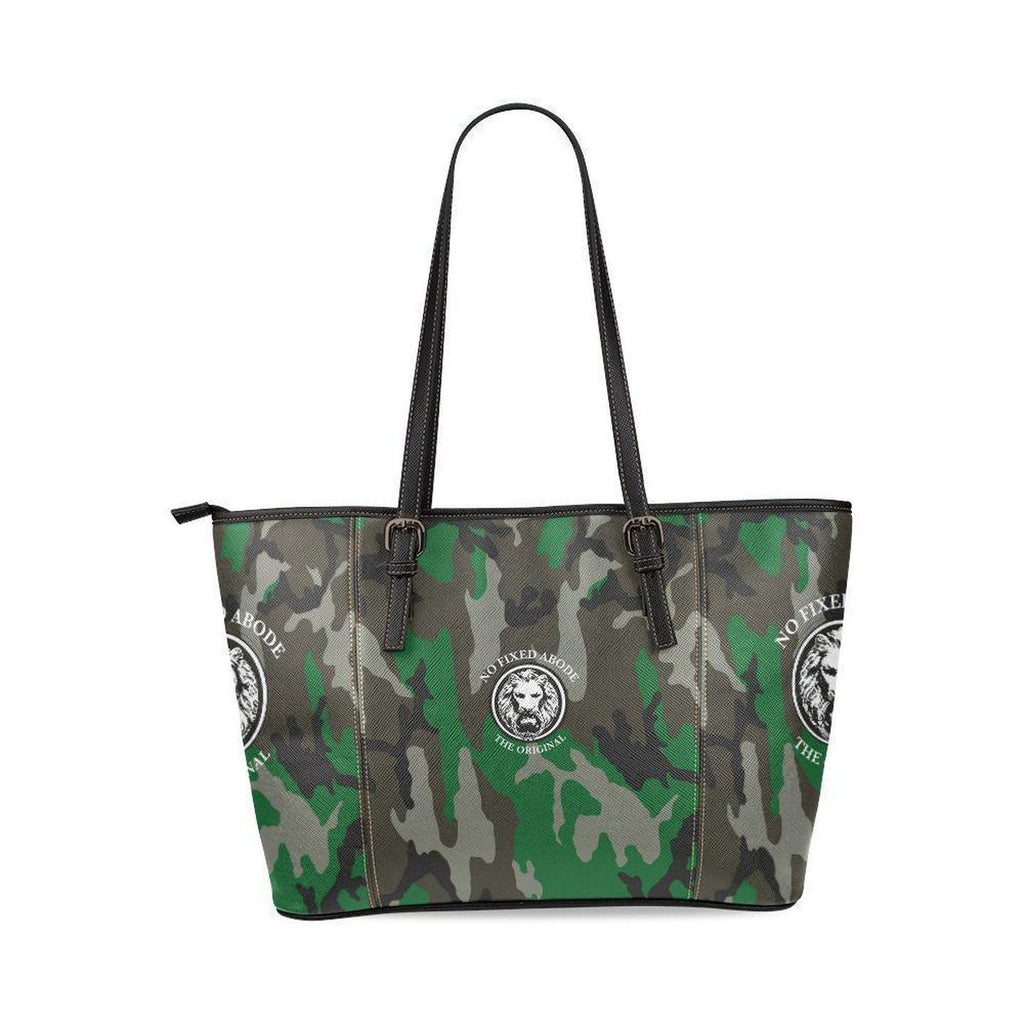 NO FIXED ABODE,NFA The Original Green Camo Large Tote Bag,Bags,One Size