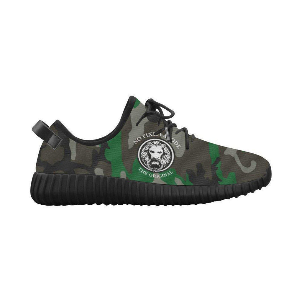 NO FIXED ABODE,NFA The Original Green Camo Ribbed Mens Shoes,Footwear,US8
