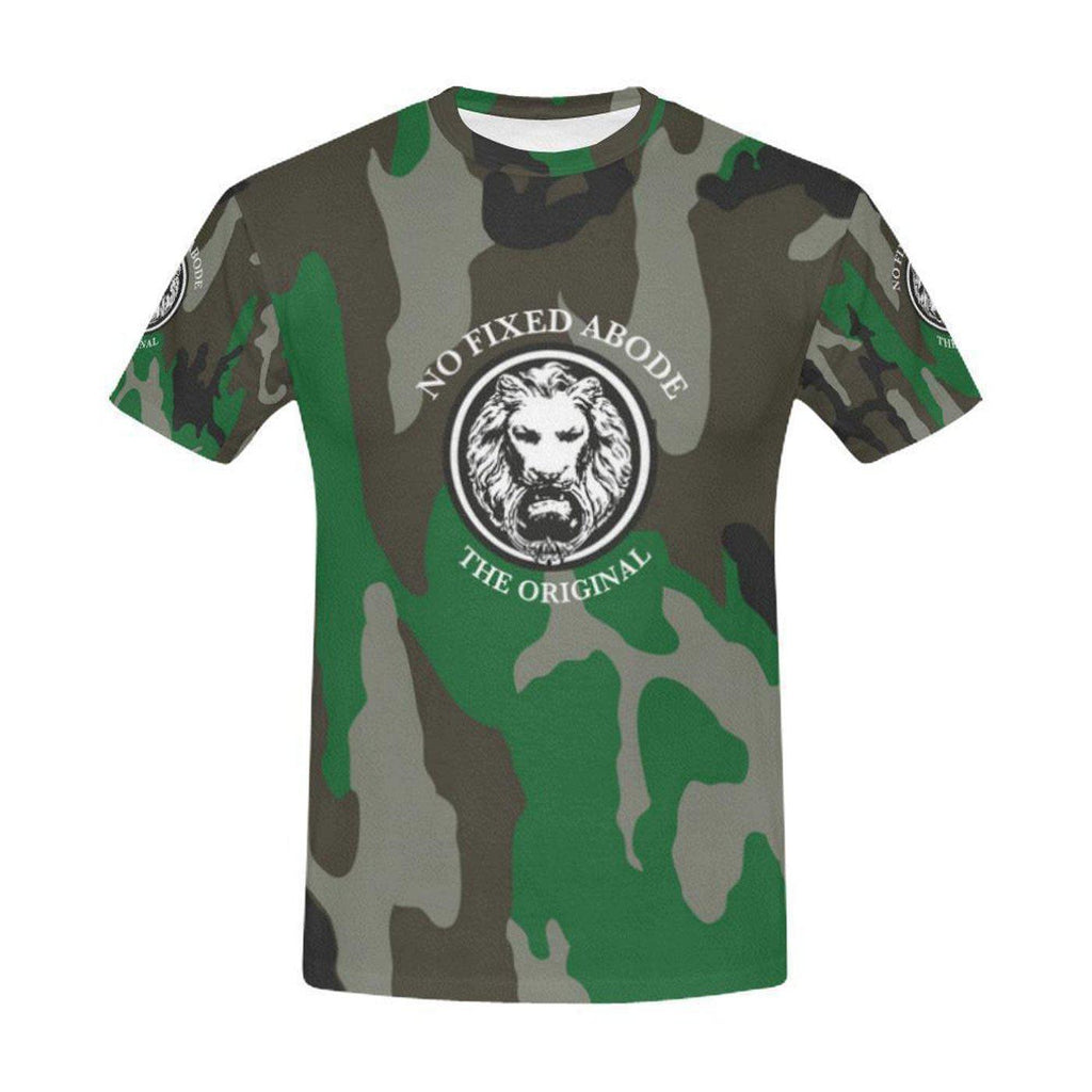 NO FIXED ABODE,NFA The Original Green Camo T-Shirt All Over Print for Men,T-Shirts,S