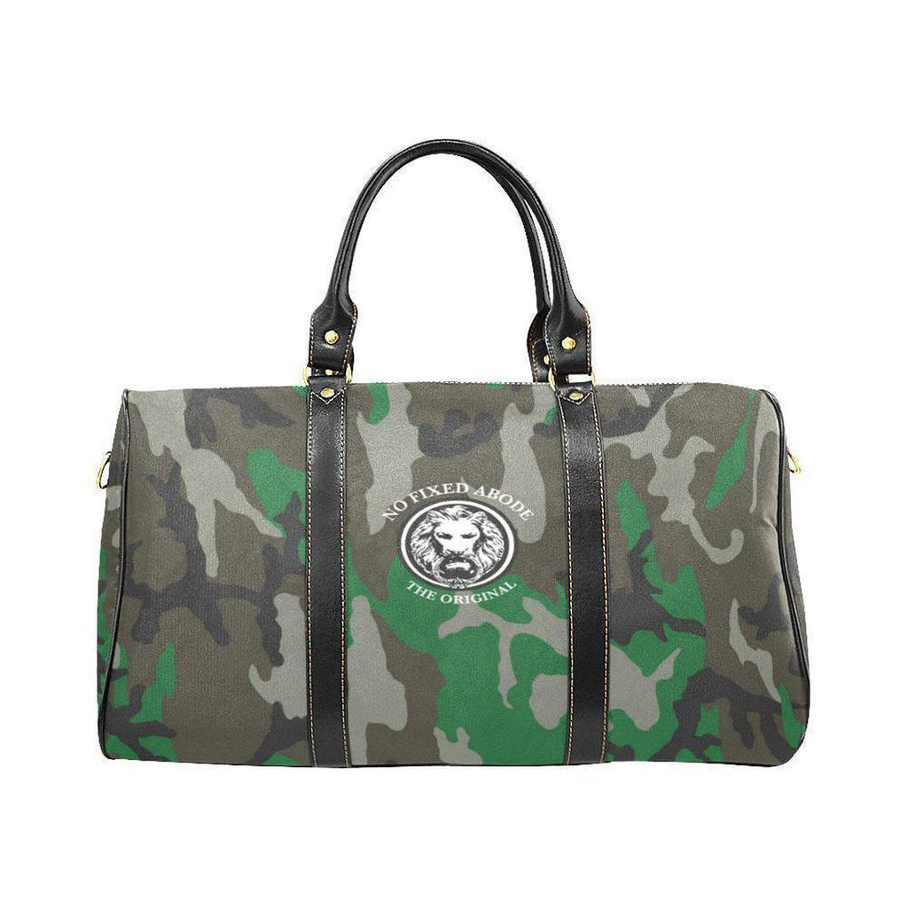 NO FIXED ABODE,NFA The OrIginal Green Camo Water Proof Travel Bag Large,Bags,One Size