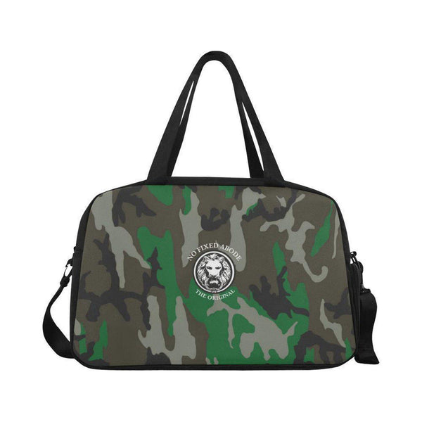 NO FIXED ABODE,NFA The Original Green Camo Weekend Travel Bag,Bags,One Size