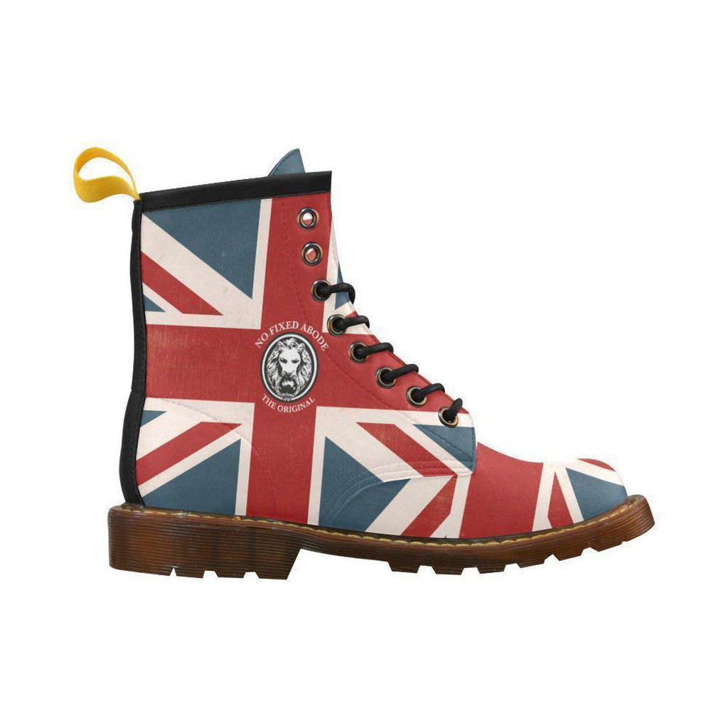 NO FIXED ABODE,NFA The Original Union Jack Combat Boots For Men Limited Edition,Footwear,US7