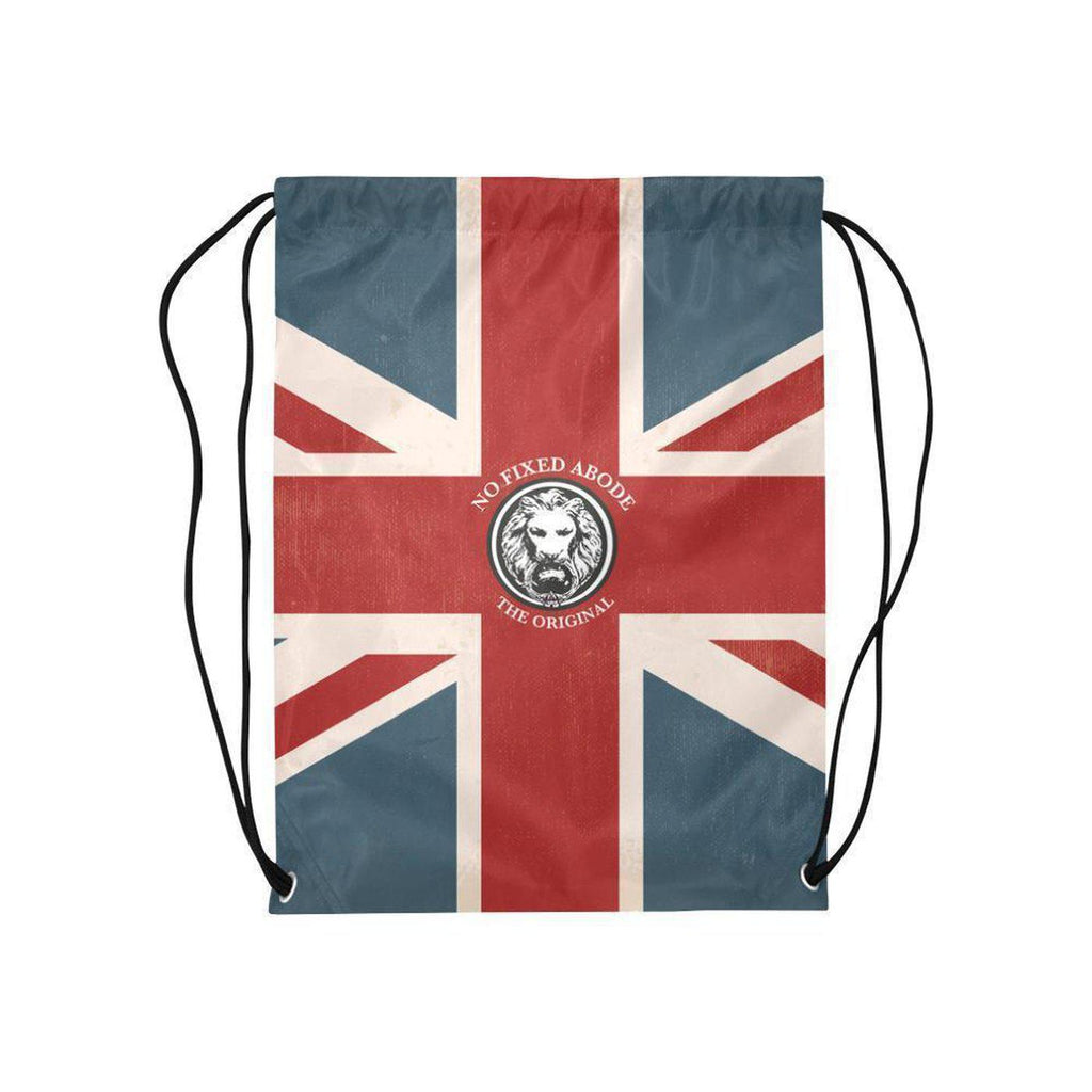 NO FIXED ABODE,NFA The Original Union Jack Medium Drawstring Bag,Bags,One Size