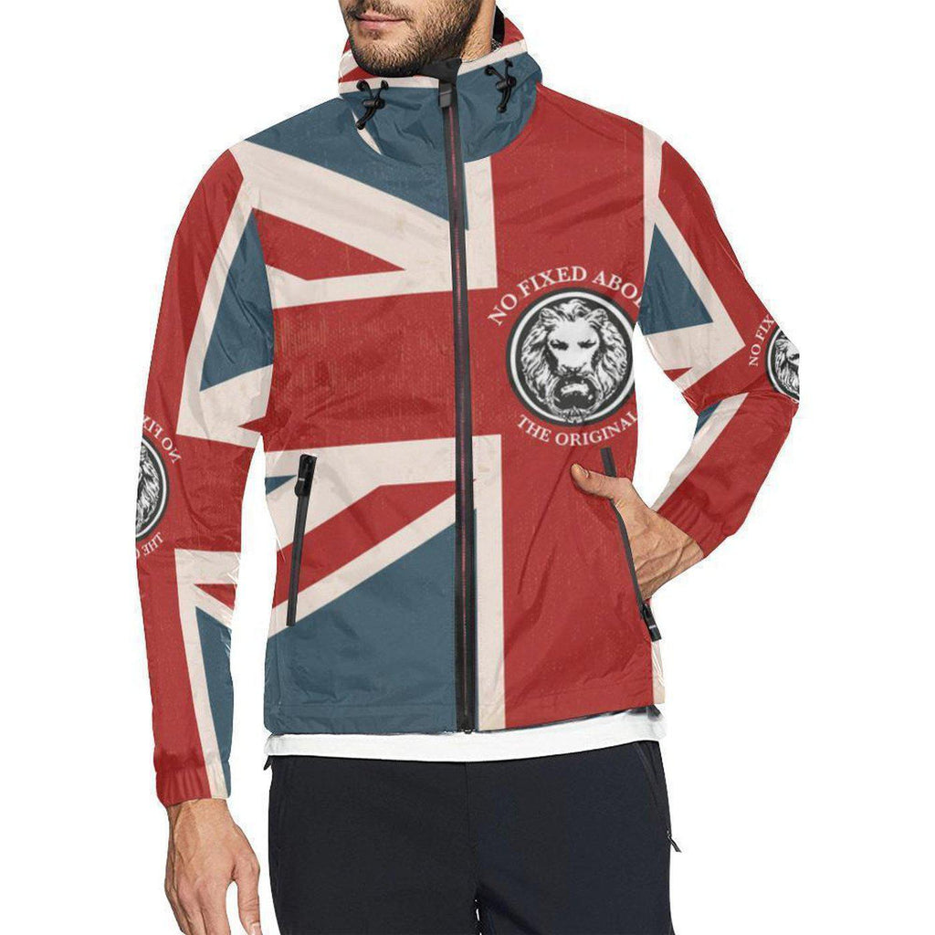 NO FIXED ABODE,NFA The Original Union Jack Mens Wind Breaker,Jackets and Coats,XS