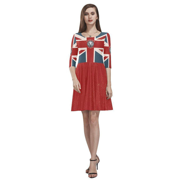 NO FIXED ABODE,NFA The Original Union Jack Womens Skater Dress,Dresses,XS