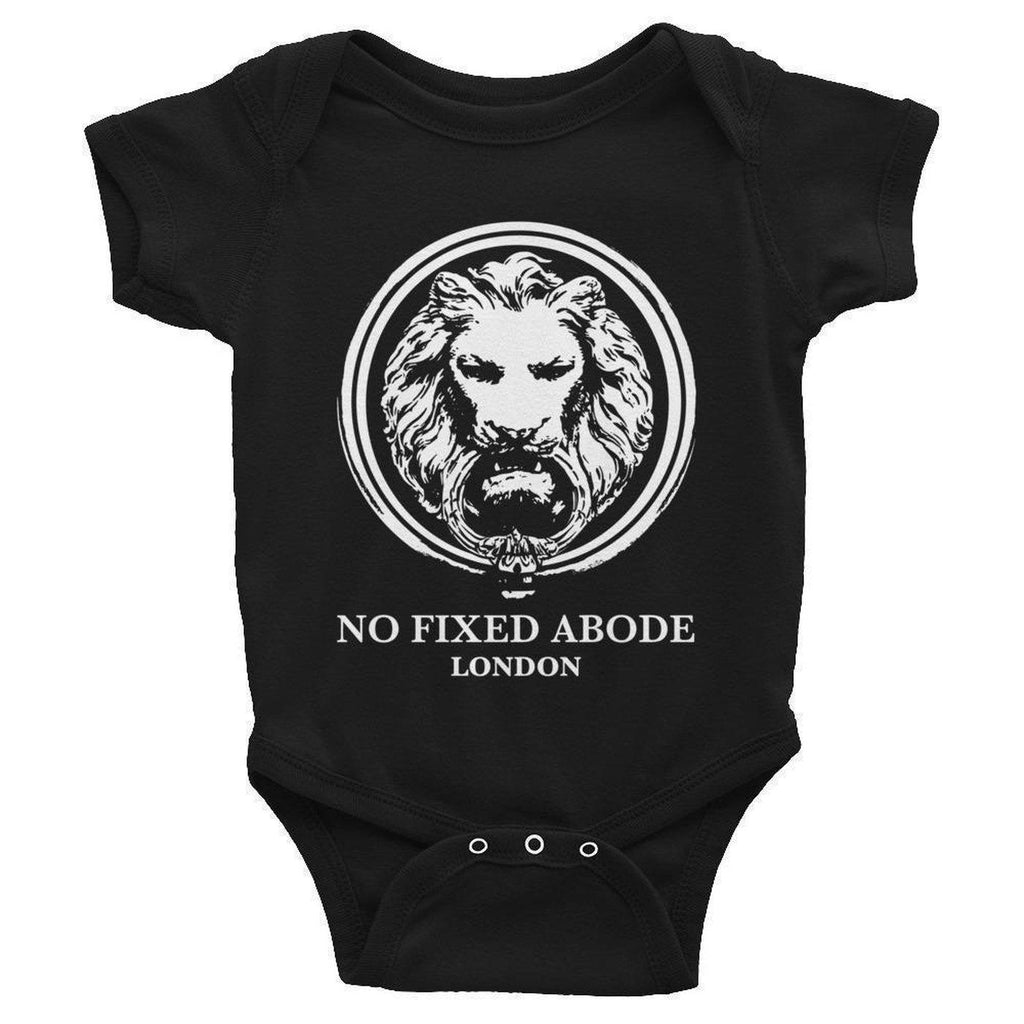 No Fixed Abode Baby Infant Bodysuit-Baby-Black-NB-NO FIXED ABODE Luxury Streetwear UK