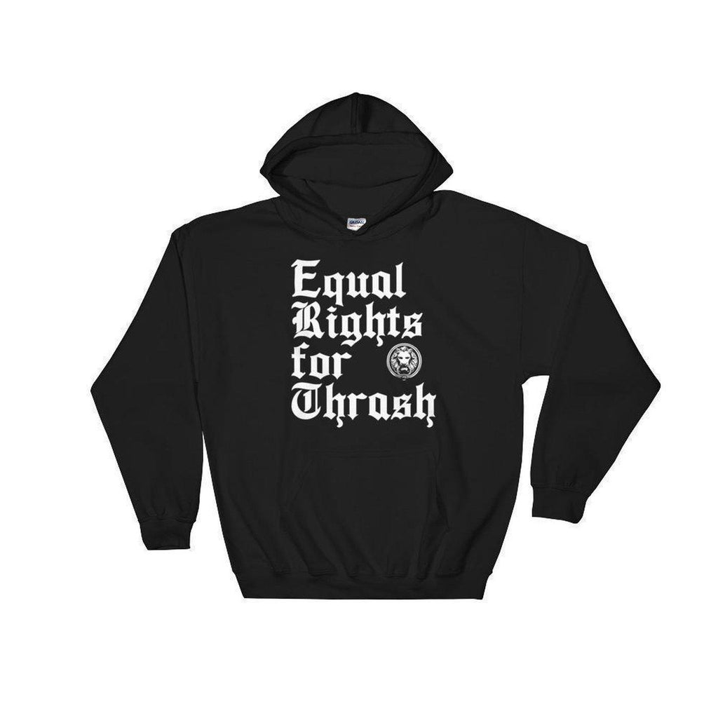 NO FIXED ABODE,No Fixed Abode Equal Rights For Thrash Hooded Sweatshirt,Sweatshirt,Black / S