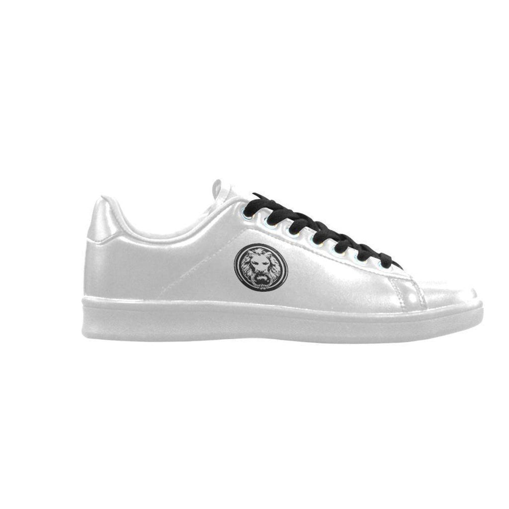 No Fixed Abode Mens White Trainer Shoes Small Black Lion,Footwear,NO FIXED ABODE,[uk],[luxury_streetwear],[free_shipping]