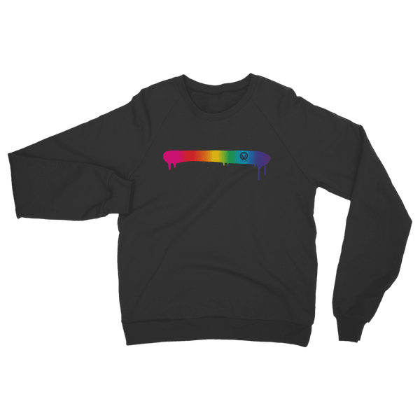 Rainbow Spray Paint Classic Adult Sweatshirt-Sweatshirts-Black-S-NO FIXED ABODE Luxury Streetwear UK