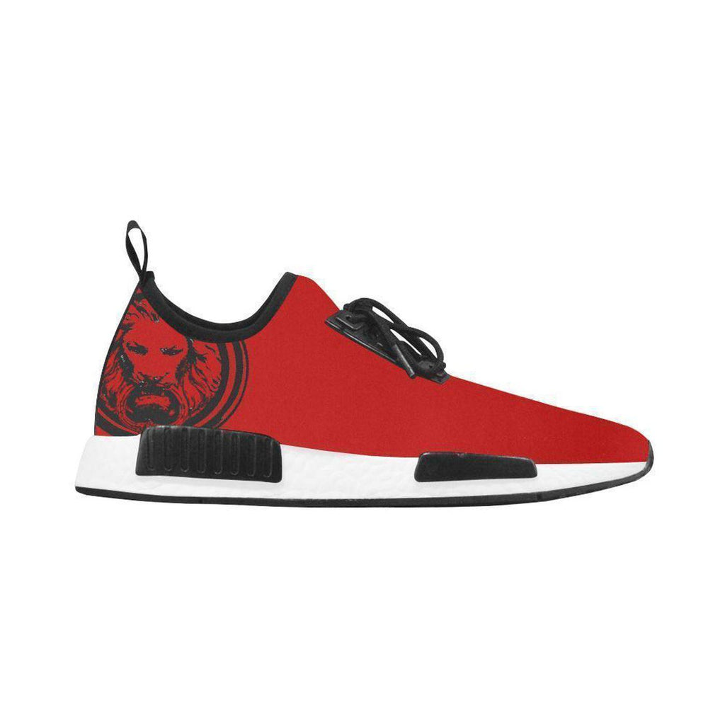 Red Mens Trainers Sneakers with Black Lion Running Style,Footwear,NO FIXED ABODE,[uk],[luxury_streetwear],[free_shipping]