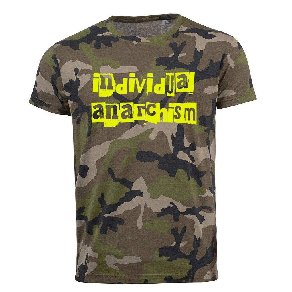 Short Sleeve Camo Individual Anarchism-T-Shirts-S-NO FIXED ABODE Luxury Streetwear UK