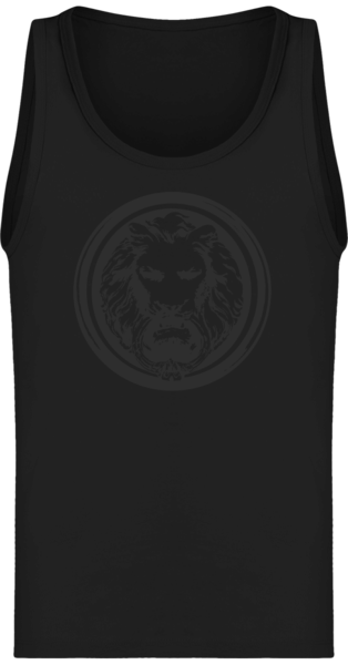 Tank Top Black on Black Lion