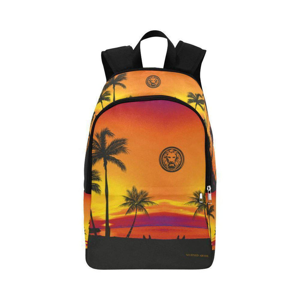 NO FIXED ABODE,Tropical Black Palm Trees Adult Backpack,BAGS,One Size