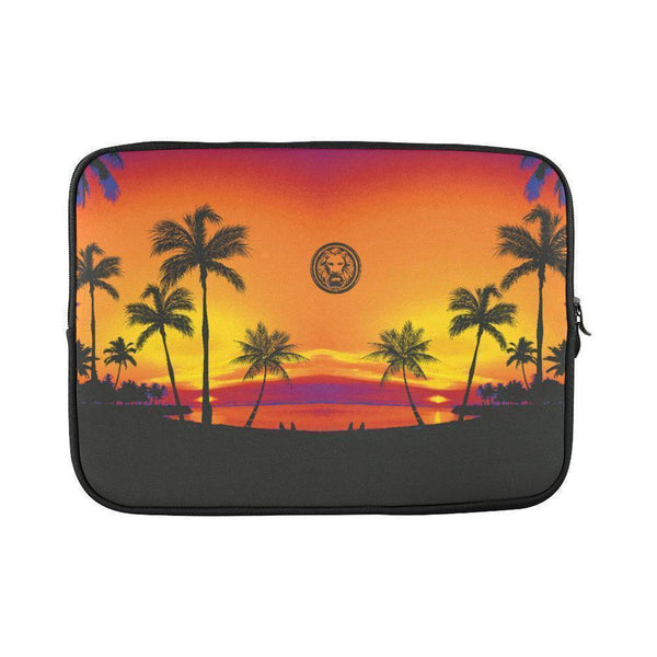 "Tropical Black palm trees Mac book pro 15"" Laptop Case Sleeve-Laptop Cases-One Size-NO FIXED ABODE Luxury Streetwear UK"
