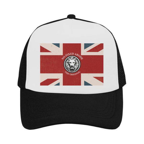 NO FIXED ABODE,Trucker Cap NFA The Original Union Jack,Hats,One Size
