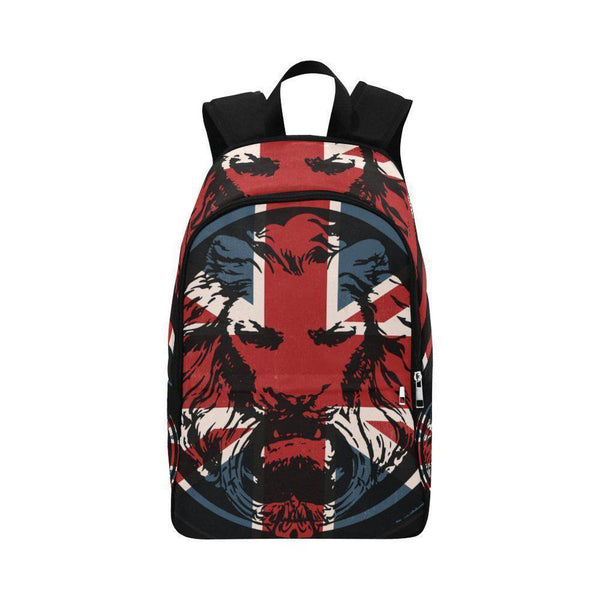 Union Jack Lion Back Pack-Bags-One Size-NO FIXED ABODE Luxury Streetwear UK