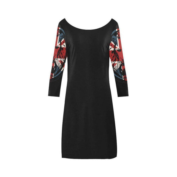 NO FIXED ABODE,Union Jack Lion Black Dress The Original Collection,Dress,XS