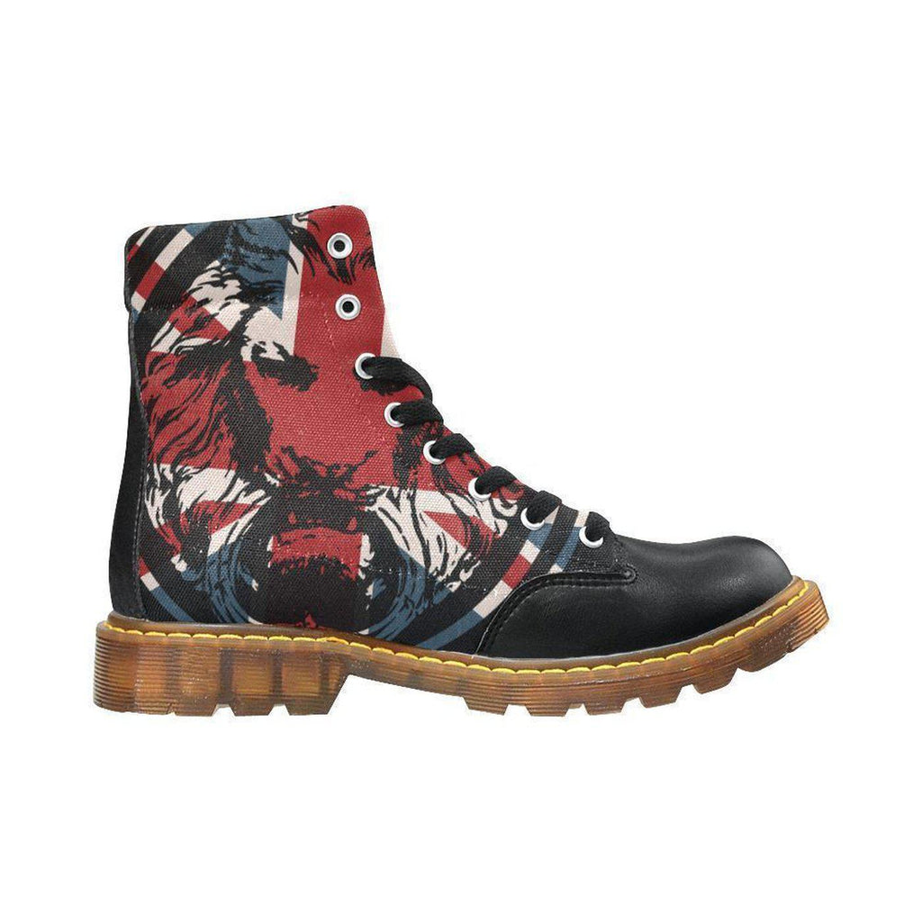 Union Jack Lion Black Mens Boots The Original,Footwear,NO FIXED ABODE,[uk],[luxury_streetwear],[free_shipping]