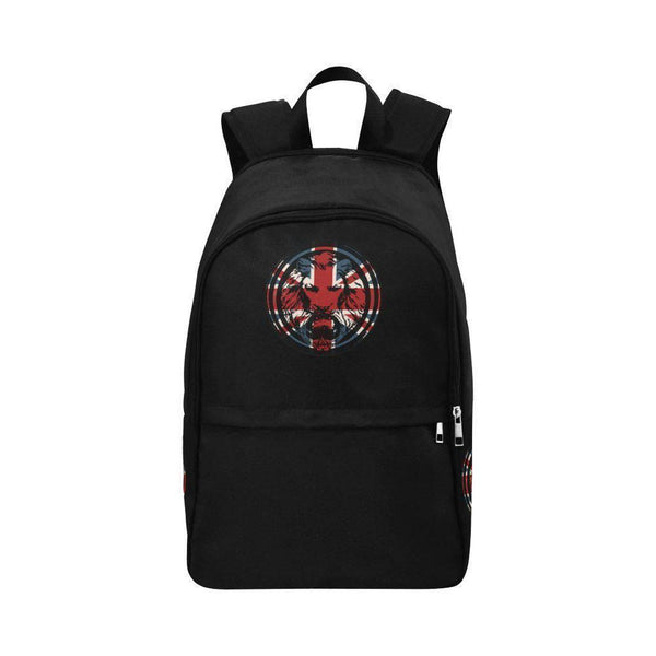 Union Jack Lion Black The Original Backpack-BAGS-One Size-NO FIXED ABODE Luxury Streetwear UK