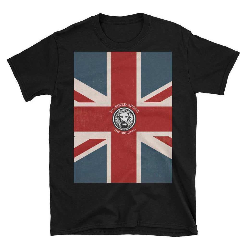 NO FIXED ABODE,Union Jack Original Short-Sleeve T-Shirt,T-Shirts,Black / S