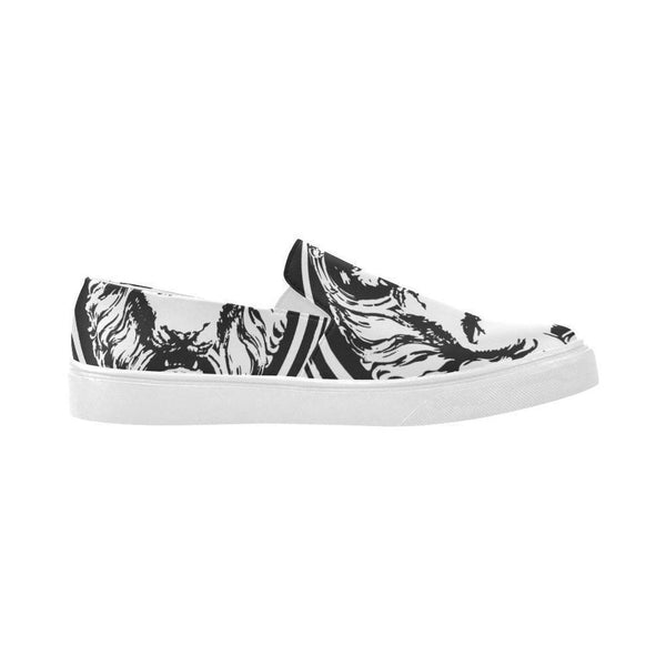 White and Black Lion Pointer Women's Shoes,Footwear,NO FIXED ABODE,[uk],[luxury_streetwear],[free_shipping]