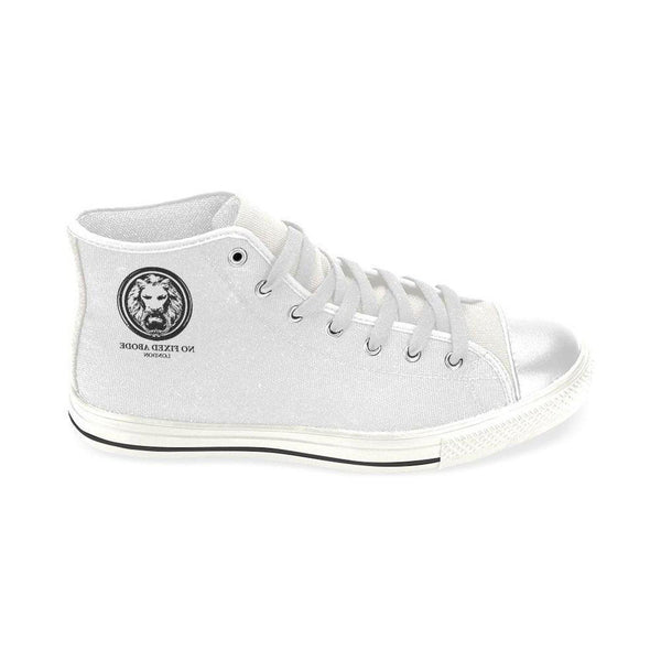 White Lion Men's Classic High Top Canvas Shoes,Shoes,NO FIXED ABODE,[uk],[luxury_streetwear],[free_shipping]
