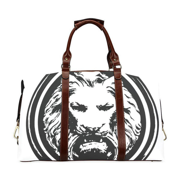 White Lion Travel Bag-Bags-One Size-NO FIXED ABODE Luxury Streetwear UK