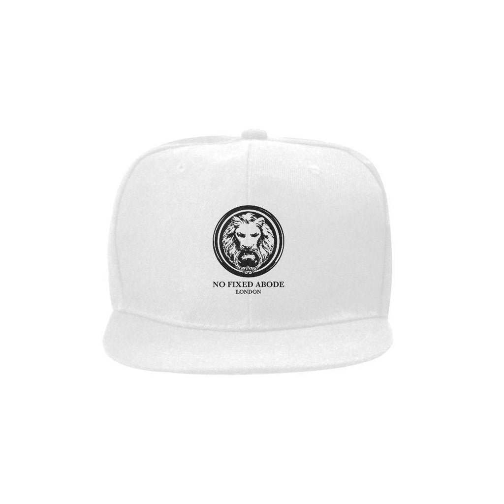 NO FIXED ABODE,White Snap Back Lion Cap,Hats,One Size