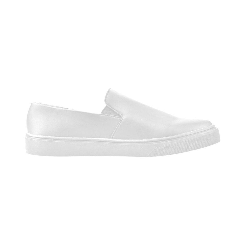 NO FIXED ABODE,Womens White Slip on Poseidon Tip Shoes,Footwear,US5.5