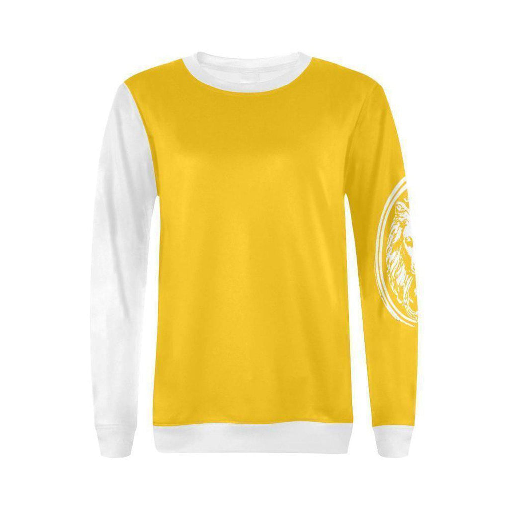 NO FIXED ABODE,Womens Yellow Lion Sleeve Top,Tops,XS