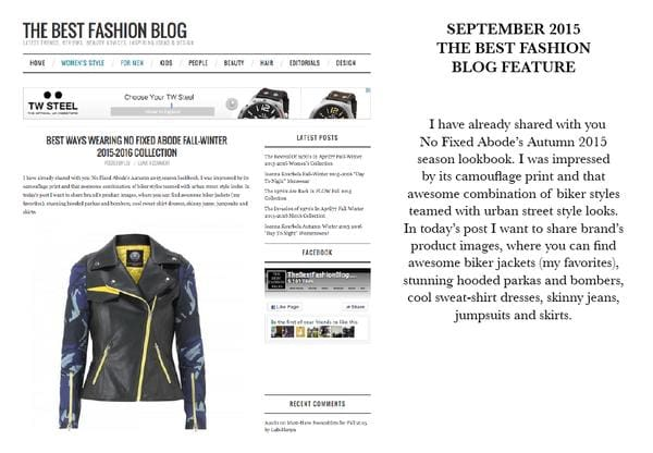 Press Feature From The Best Fashion Blog