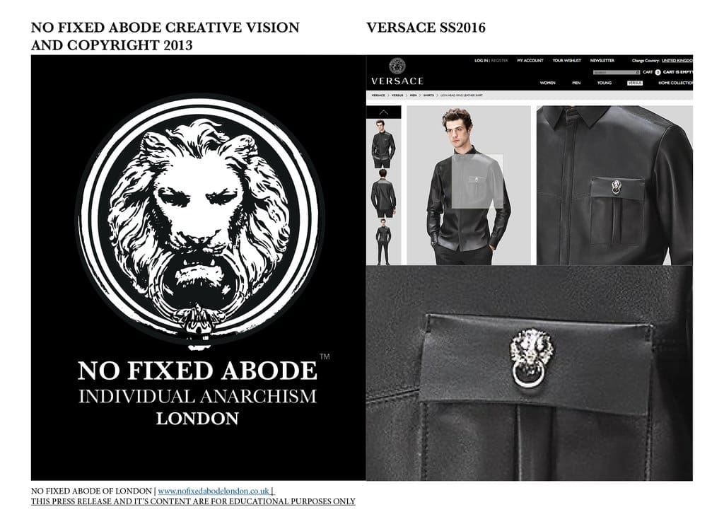 Versace uses No Fixed Abode's Style and Creative Vision