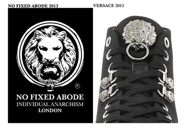 No Fixed Abode London Law Suit Against Versace for ripping off their ideas and logo