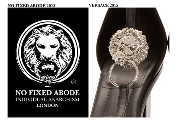 No Fixed Abode have Filed a High Court Law Suit Against Versace who have been trying to rip them off.