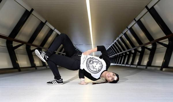 No Fixed Abode Bgirl Lana - in our Lion Basketball top
