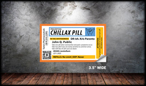 Chillax Pill Sticker